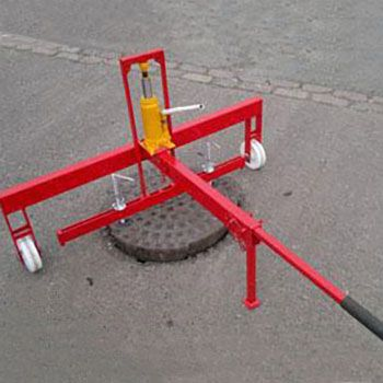 Lightweight Hydraulic Manhole Cover Lifter
